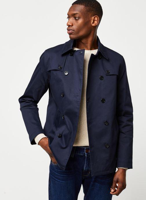 Vêtements Selected Homme Slhken Trench Coat Bleu vue détail/paire