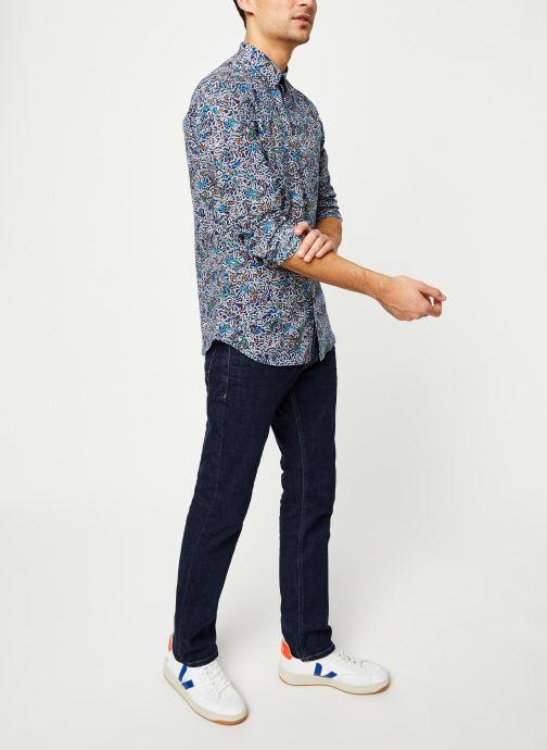 Vêtements Selected Homme Slhslimnigel Shirt LS Bleu vue bas / vue portée sac
