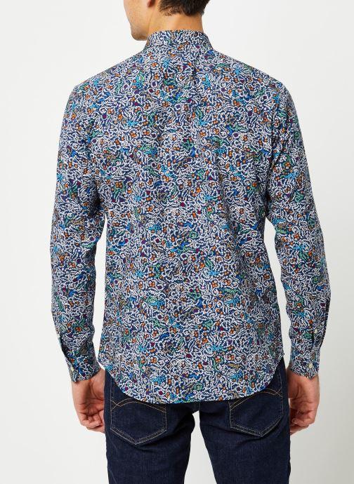 Vêtements Selected Homme Slhslimnigel Shirt LS Bleu vue portées chaussures
