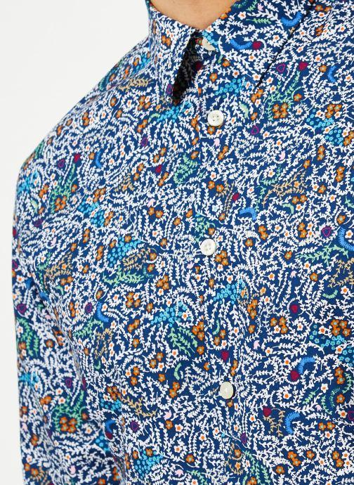 Vêtements Selected Homme Slhslimnigel Shirt LS Bleu vue face