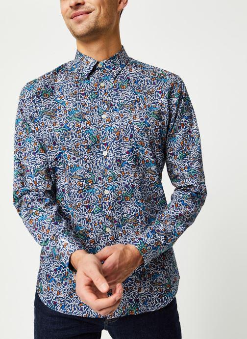 Vêtements Selected Homme Slhslimnigel Shirt LS Bleu vue détail/paire