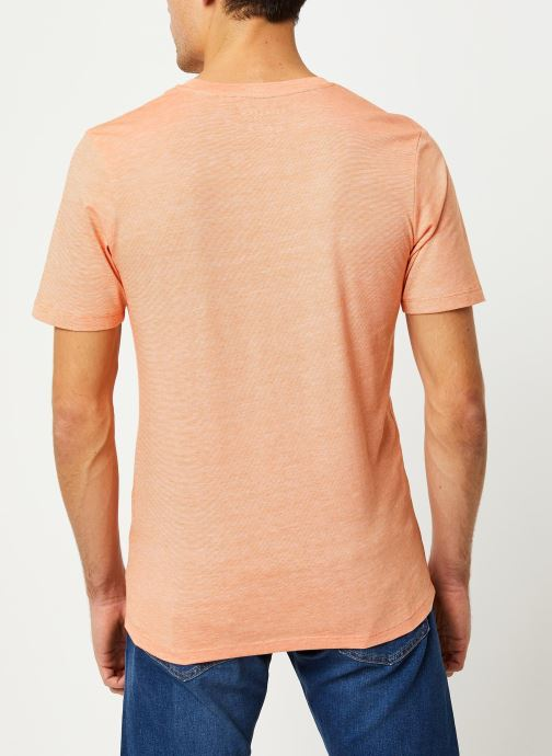 Vêtements Selected Homme Slhtheperfect SS Tee Orange vue portées chaussures