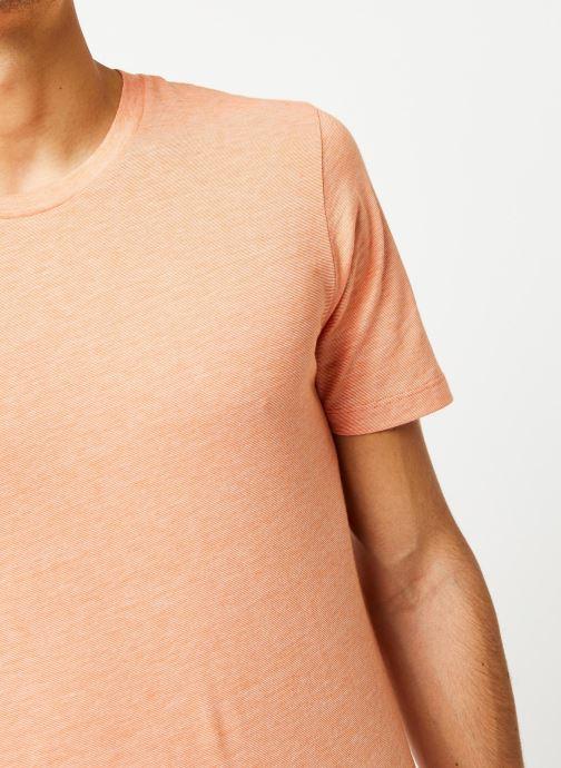 Vêtements Selected Homme Slhtheperfect SS Tee Orange vue face