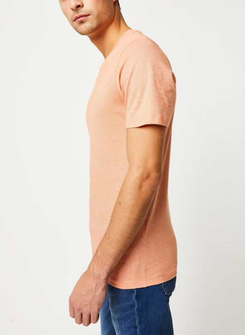 Vêtements Selected Homme Slhtheperfect SS Tee Orange vue droite