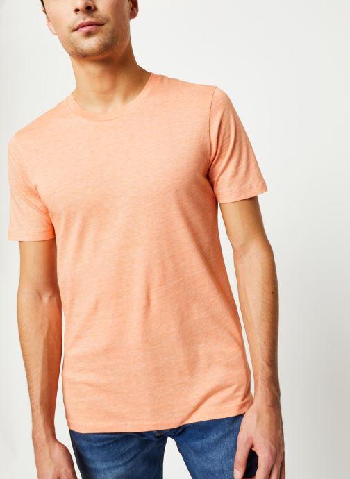 Vêtements Selected Homme Slhtheperfect SS Tee Orange vue détail/paire