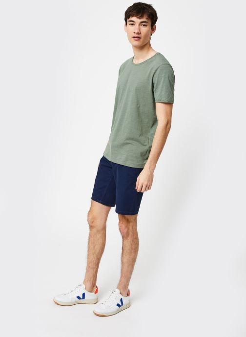 Vêtements Selected Homme Slhmorgan SS Tee Vert vue bas / vue portée sac