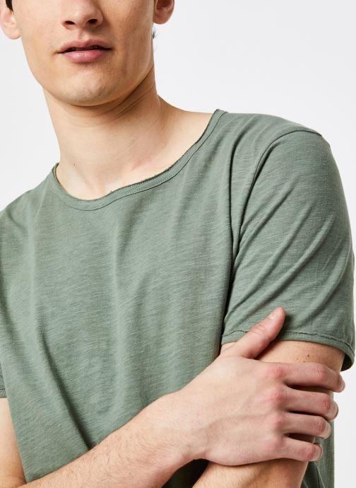 Vêtements Selected Homme Slhmorgan SS Tee Vert vue face