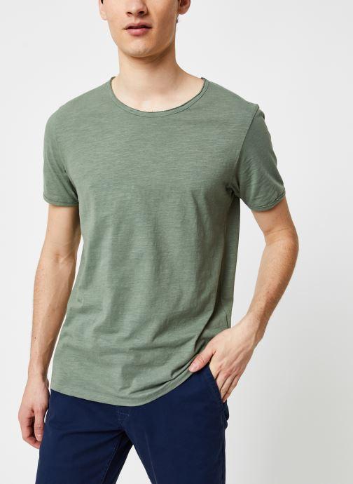 Vêtements Selected Homme Slhmorgan SS Tee Vert vue droite