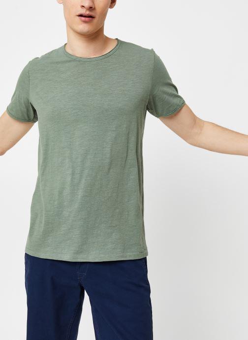 Vêtements Selected Homme Slhmorgan SS Tee Vert vue détail/paire
