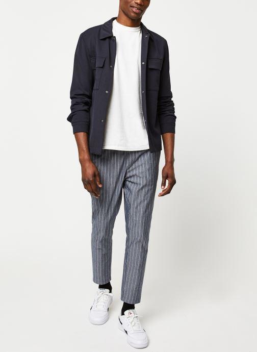 Vêtements Selected Homme Slhregular Code Hybrid Jacket Bleu vue bas / vue portée sac