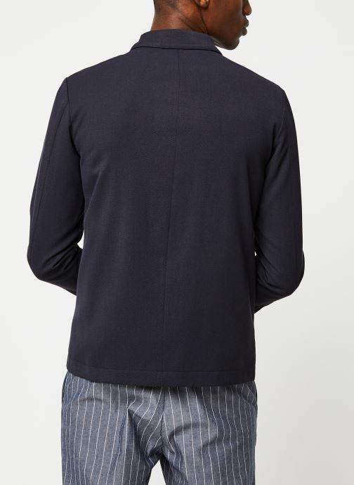 Vêtements Selected Homme Slhregular Code Hybrid Jacket Bleu vue portées chaussures