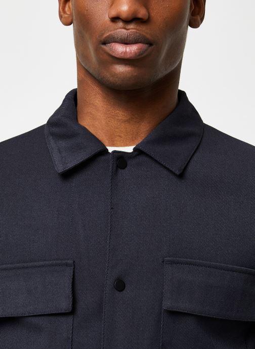 Vêtements Selected Homme Slhregular Code Hybrid Jacket Bleu vue face
