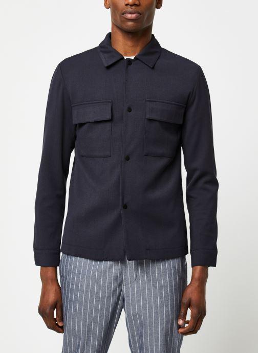Vêtements Selected Homme Slhregular Code Hybrid Jacket Bleu vue droite
