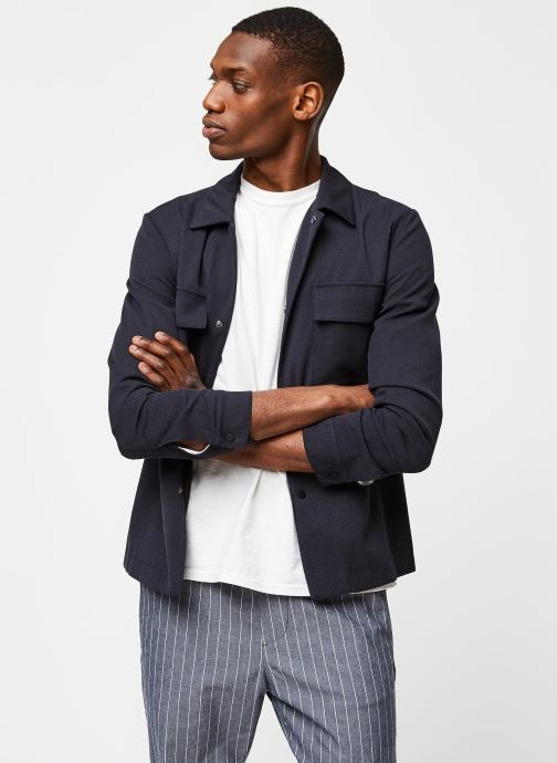 Vêtements Selected Homme Slhregular Code Hybrid Jacket Bleu vue détail/paire