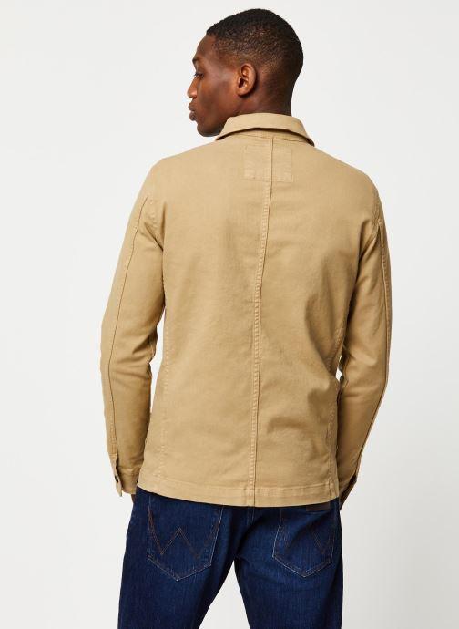 Vêtements Selected Homme Slhjackson Cotton Jacket Beige vue portées chaussures