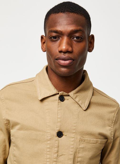 Vêtements Selected Homme Slhjackson Cotton Jacket Beige vue face
