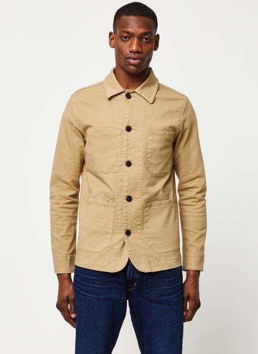 Vêtements Selected Homme Slhjackson Cotton Jacket Beige vue droite