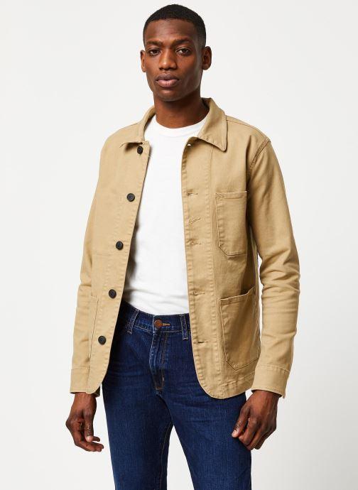 Vêtements Selected Homme Slhjackson Cotton Jacket Beige vue détail/paire