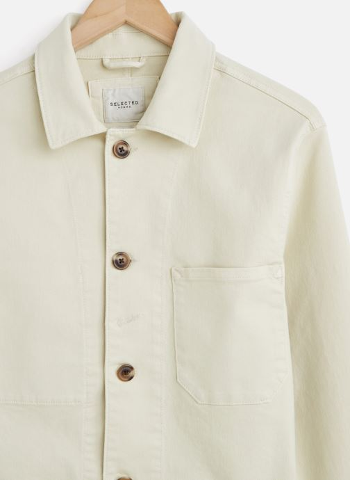 Vêtements Selected Homme Slhjackson Cotton Jacket Blanc vue portées chaussures