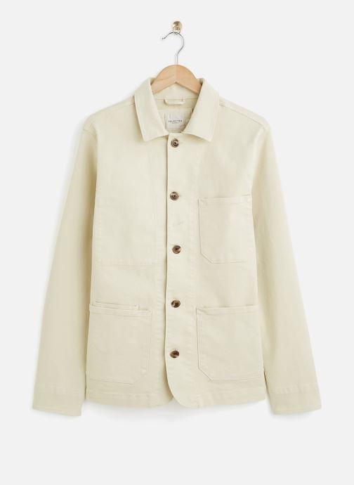 Vêtements Selected Homme Slhjackson Cotton Jacket Blanc vue détail/paire