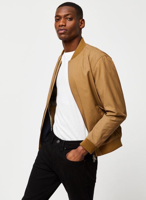 Vêtements Selected Homme Slhmartin Bomber Jacket Marron vue détail/paire