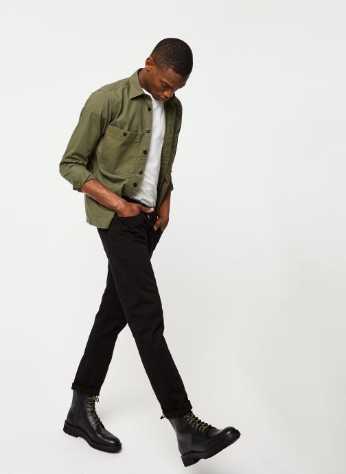 Vêtements Selected Homme Slhregavi Shirt LS Vert vue bas / vue portée sac