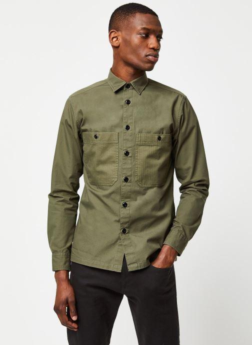 Vêtements Selected Homme Slhregavi Shirt LS Vert vue droite
