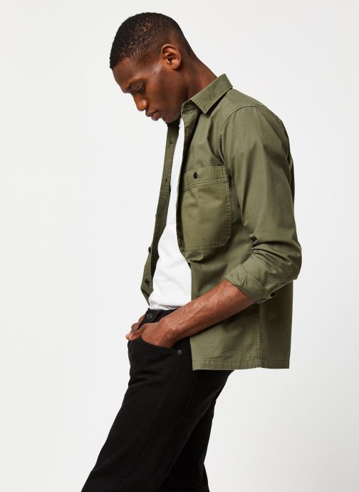 Vêtements Selected Homme Slhregavi Shirt LS Vert vue détail/paire