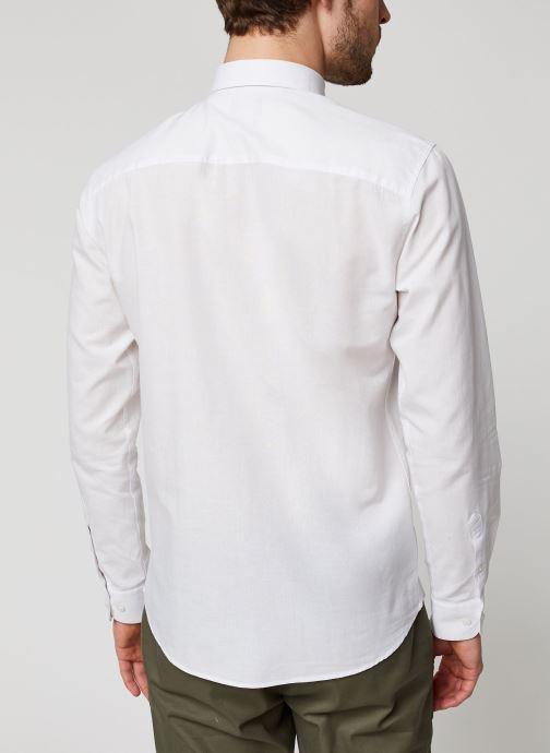 Vêtements Selected Homme Slhslimlinen Shirt LS Blanc vue portées chaussures