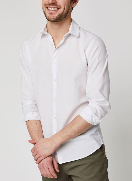 Vêtements Selected Homme Slhslimlinen Shirt LS Blanc vue détail/paire