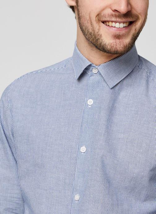 Vêtements Selected Homme Slhslimlinen Shirt LS Bleu vue face
