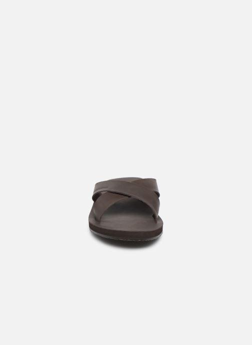 Sandalias Jack & Jones Jfwnova Leather Marrón vista del modelo