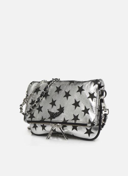 Pochette Zadig & Voltaire Rock Nano Stars Argento modello indossato