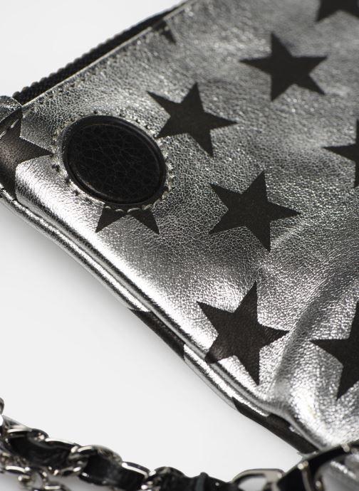 Pochette Zadig & Voltaire Rock Nano Stars Argento immagine sinistra