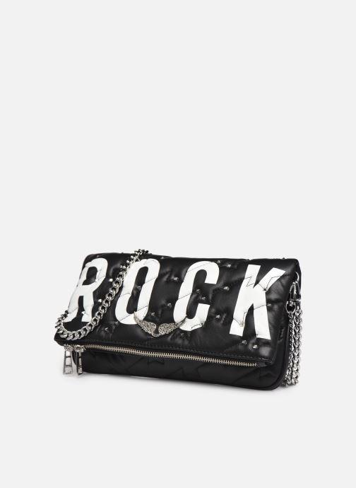 Sacs à main Zadig & Voltaire Rock ZV Quilted Noir vue portées chaussures