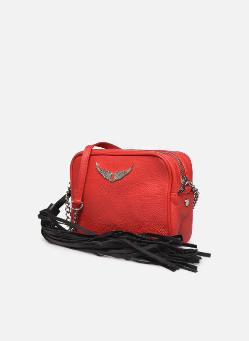 Sacs à main Zadig & Voltaire XS Boxy Grained Rouge vue portées chaussures
