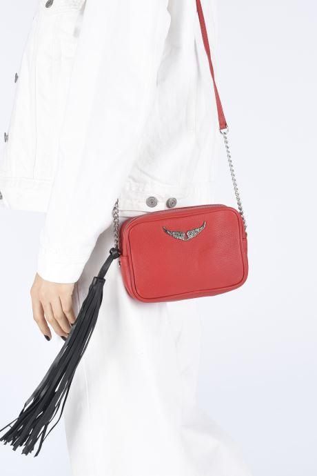 Sacs à main Zadig & Voltaire XS Boxy Grained Rouge vue bas / vue portée sac