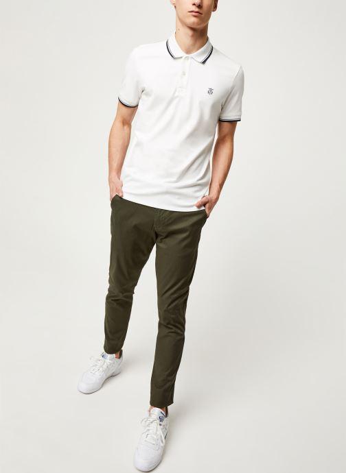Vêtements Selected Homme Slhslim Yard Belt Pants Vert vue bas / vue portée sac