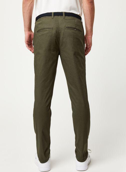 Vêtements Selected Homme Slhslim Yard Belt Pants Vert vue portées chaussures