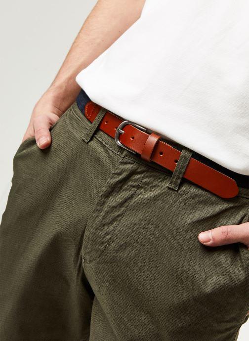 Vêtements Selected Homme Slhslim Yard Belt Pants Vert vue face