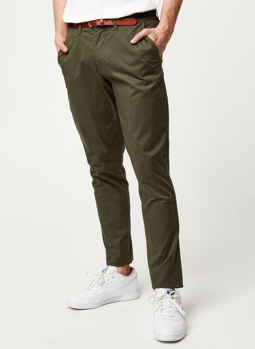 Vêtements Selected Homme Slhslim Yard Belt Pants Vert vue détail/paire