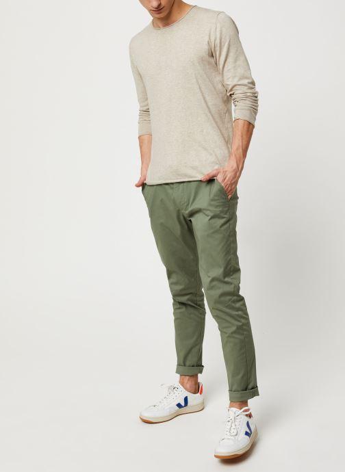 Vêtements Selected Homme Slhslim-Yard Pants W Noos Vert vue bas / vue portée sac