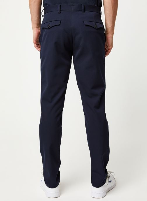 Vêtements Selected Homme Slhslim Carlo Flex Pants Bleu vue portées chaussures