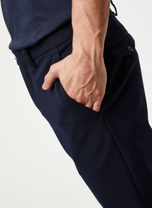 Vêtements Selected Homme Slhslim Carlo Flex Pants Bleu vue face