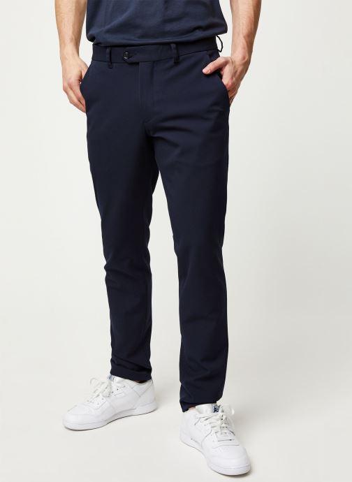 Tøj Selected Homme Slhslim Carlo Flex Pants Blå detaljeret billede af skoene