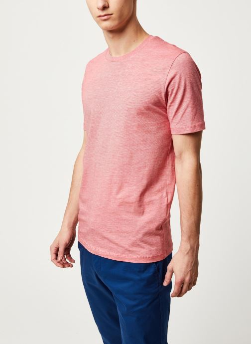 Vêtements Selected Homme Slhtheperfect Mel SS Tee Rouge vue droite