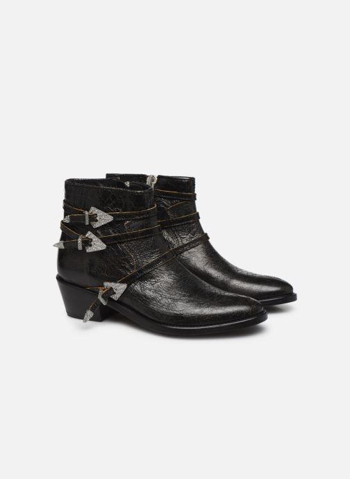 Bottines et boots Zadig & Voltaire Pilar Used St Noir vue 3/4