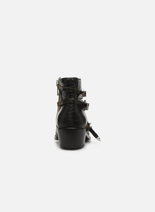 Bottines et boots Zadig & Voltaire Pilar Used St Noir vue droite