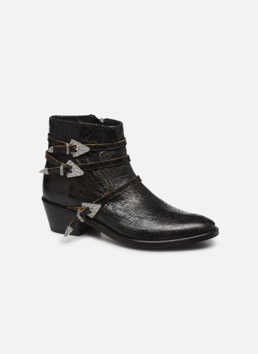 Bottines et boots Zadig & Voltaire Pilar Used St Noir vue détail/paire
