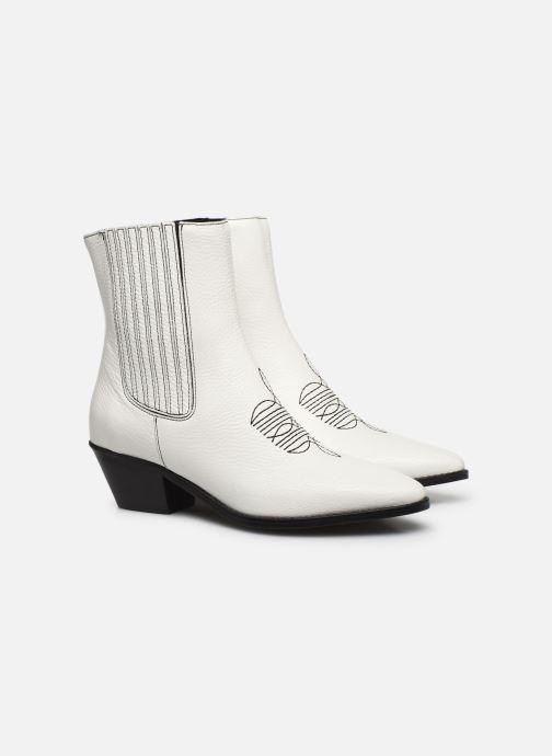 Bottines et boots Zadig & Voltaire Tyler Elastic Blanc vue 3/4